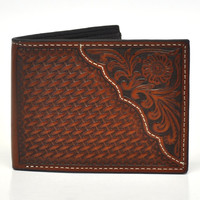 Nocona Pro Series Bi-fold Genuine Leather Western Men's Wallet-Tan N5446708