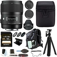 Sigma 35mm f/1.4 DG HSM Lens for Canon DSLR Cameras ( 340101) + 32GB Deluxe Accessory Kit
