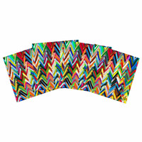 "Frederic Levy-Hadida ""Chevrons"" Rainbow Indoor/Outdoor Place Mat (Set of 4)"