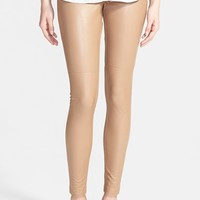 Women's Hue Faux Leather Leggings,