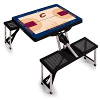 Cleveland Cavaliers - 'Picnic Table Sport' Portable Folding Table with Seats by Picnic Time (Black)