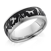 Men's Duck Hunt Band in Cobalt Chrome,8mm - Top Gifts For Him - Recipient - Gift Guide - Helzberg Diamonds