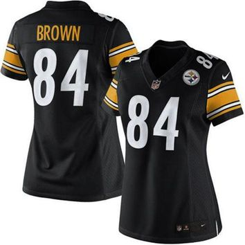 Girls Youth Pittsburgh Steelers Antonio Brown Nike Black Game Jersey