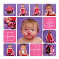Cake Smash template, Story board template, Cake Smash Storyboard, 12x12, 20x20, 24x24, Collage template, Blog Board, Birthday Collage