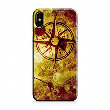 Compass Nautical Map iPhone X Case