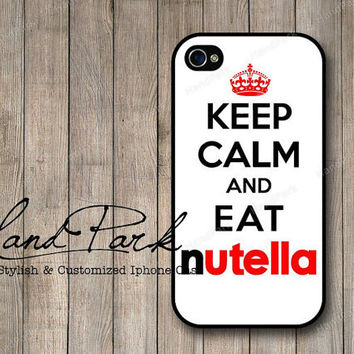 Keep Calm And Eat Nutella iPhone 4 Case, iPhone 4s Case, iPhone Case, iPhone hard Case