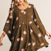 Fall Frolic Dress - Olive