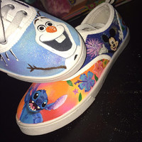 Custom Disney Hand Painted Shoes