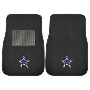 Dallas Cowboys NFL 2-pc Embroidered Car Mat Set