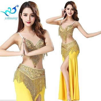 Samba Festival Performance Costumes Oriental Belly Dancing Competition Set Halloween Outfits Bollywood Carnival Egyptian B Cup