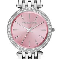 Women's Michael Kors 'Darci' Round Bracelet Watch, 39mm - Silver/ Pink