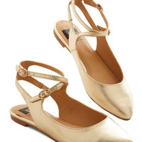 BC Footwear Happy Henceforth Flat in Gold