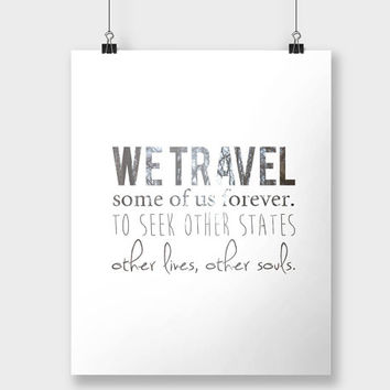 Print Travel Quote Typographic Print Typography White Minimalistic Inspirational Quote Poster