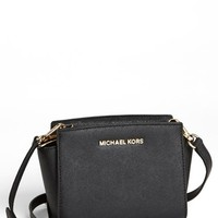 MICHAEL Michael Kors 'Selma - Mini' Saffiano Leather Messenger Bag