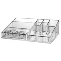 US Acrylic Cosmetic Organizer with Removable Lipstick Holder