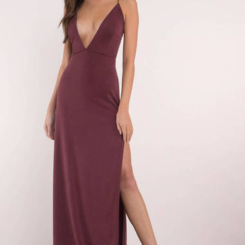 Wild One Plunging Maxi Dress