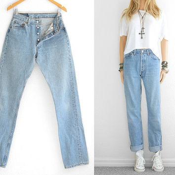 buying now new items lowest discount Levis 501 Jeans Boyfriend Jeans Baggy Jeans Baggy Pants Vintage Denim  Vintage Jeans levi High Waist Womens 501 Boyfriend Jeans waist 28