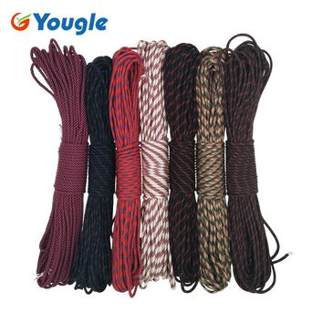 YOUGLE Paracord 550 Parachute Cord Lanyard Rope Outdoor tent Wind rope Woven Bracelet Type III 100FT Camping equipment 109-115