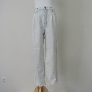 FREE usa SHIPPING vintage high waisted acid  denim jeans retro groovy hipster cotton jeans size 8 M