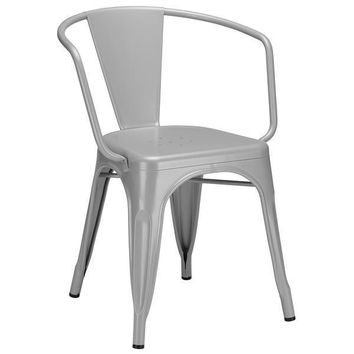 Trattoria Arm Chair | Grey