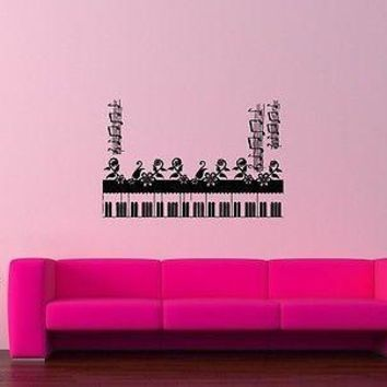 Wall Sticker Vinyl Decal Piano Sheet Music Great Room Decor Unique Gift (ig1121)