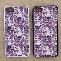 Funny Hipster Cat iPhone Case, iPhone 5 Case, iPhone 4S Case, iPhone 4 Case - SKU: 237