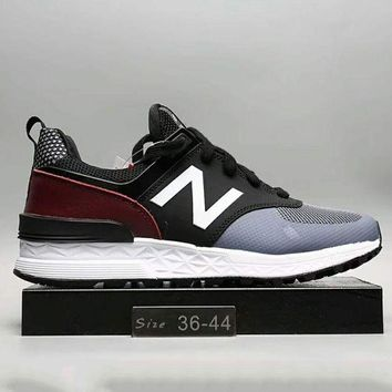 ONETOW new balance fashion casual all match n words breathable couple sneakers shoes black navy g a0 hxydxpf
