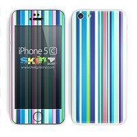 Multiple Colored Striped V9 Print Skin For The iPhone 5c