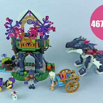 New Elves fairy Lenok Tula Tower Earth Fox Building Blocks bricks 41187 fit legoings elves fairy friends girl toy gift kid set