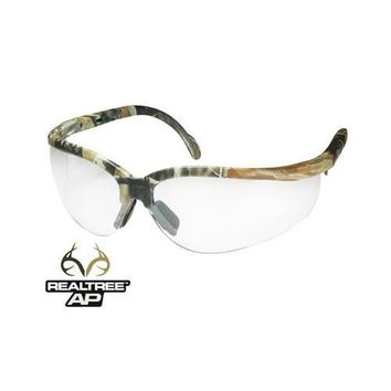 Radians Journey AP Safety Glasses, Realtree AP Camo Frame, Anti-Fog Clear Lenses