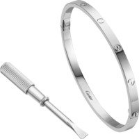 LOVE bracelet, SM: LOVE bracelet, small model, 18K white gold. Sold with a screwdriver.