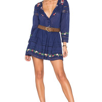 Tularosa Giles Dress in Navy