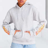 Silence + Noise Flame Hoodie Sweatshirt - Urban Outfitters