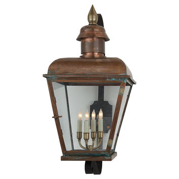 Hampshire 4-Light Lantern, Large, Outdoor Wall/Sconces