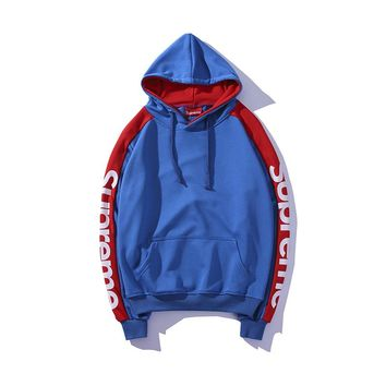 Supreme Women Letter Hooded Sweater