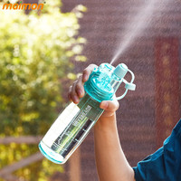 580ML Mr. Box Spray Bottle Cartoon Plastic Water Bottle Portable Tour Climbing Hiking Camp Bicycle Drinkware