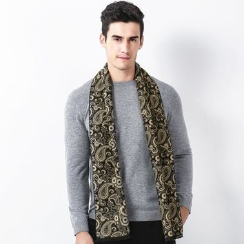 2017 Men Fashion Paisley Reactive Print 180CM Scarf Youngster Cashmere Tassel Winter Autumn Warm Scarves Shawl Pashmina Wrap