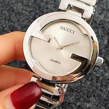 VONEYW7 gucci men and women fashion business silver watch f