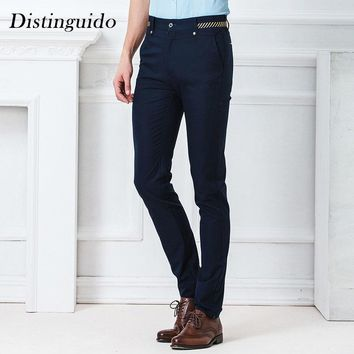 solid color striped smart casual straight out business man trousers full length mid waist man pants mpt58