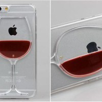 "*iPhone Clear ""Glass of Red Wine"" Case"