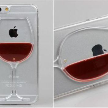 """*iPhone Clear """"Glass of Red Wine"""" Case"""