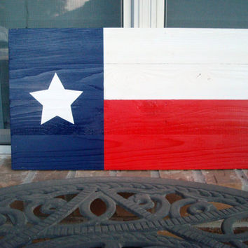 Reclaimed Wood Texas Flag - Great Patio Or Man Cave Decor