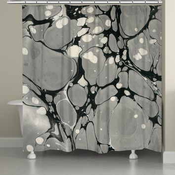 Gray Marble Shower Curtain