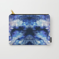 Blue Lagoon Tie-Dye Carry-All Pouch by Nina May Designs