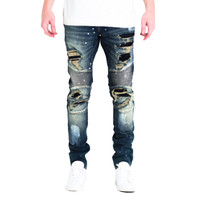 Embellish NYC Tyrone Biker Jeans In Dark Blue