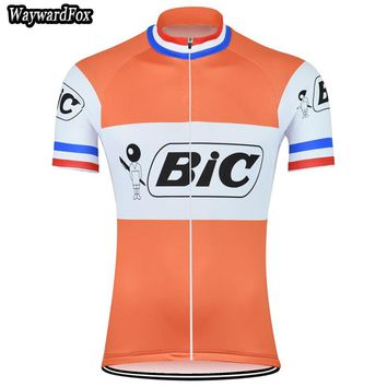 New men's Orange Cycling Jersey Retro Cycling Clothing Bike Wear Maillot Roupa Ropa De Ciclismo Bicycle Short sleeve top Clothes