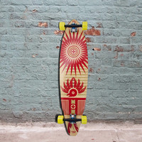 "Bamboo Square Tail Quetzel (East) Longboard - 38"" - Complete"
