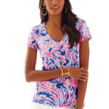 Etta V-Neck Top - Printed - Lilly Pulitzer