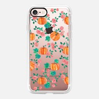 Pumpkins and Roses - transparent iPhone 7 Case by Micklyn Le Feuvre | Casetify