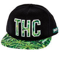 The THC Snapback Hat in Black